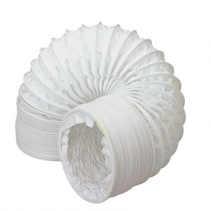 White PVC Flexible Ducting Hose 100mm x 45m